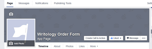how to create order form in facebook page